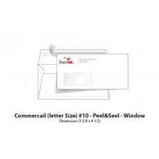 Envelope # 10 -  Window - peel & seel