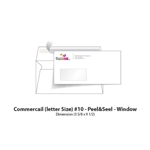 Envelope 10 window peel seel for 10 window envelope size