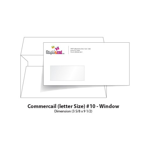 Envelope 10 window for 10 window envelope size